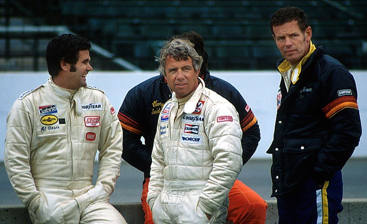 Al Unser, Bobby Unser and Gordon Johncock at Indy by martinsullivandesign.com