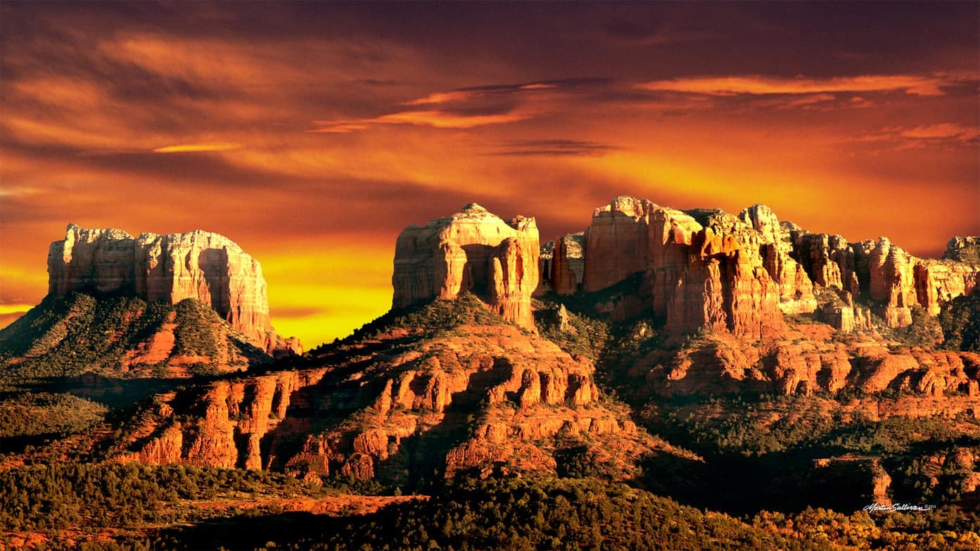 Sedona Sunset by martinsullivandesign.com