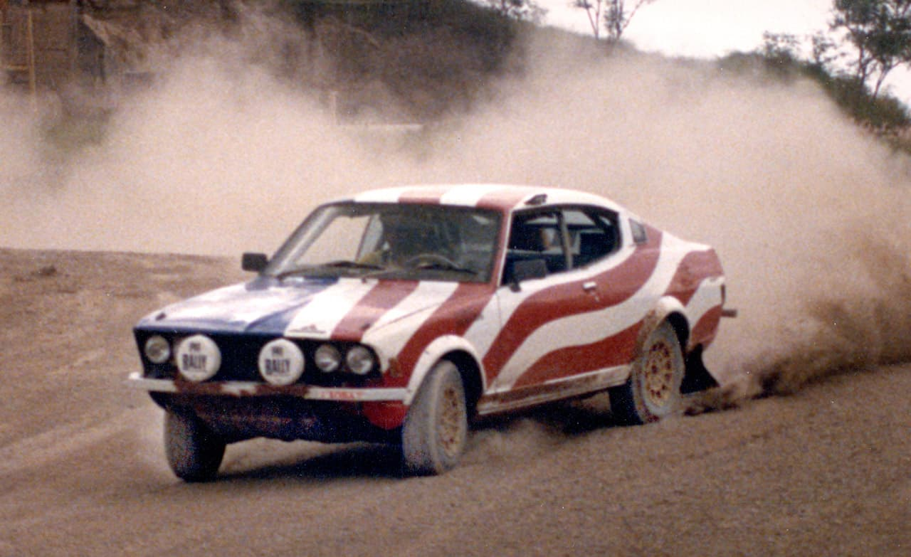 <h4>My Rally Car in Papua New Guinea</h4><br> <p>You knew when the yank was coming with that paint job. A great car. My best placement was 2nd</p>