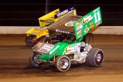<h4>World of Outlaws at Vegas</h4><br/><p>This is a photo of one of the masters of World of Outlaws Racing... Steve Kinser in his famous Quaker State Race Car</p>