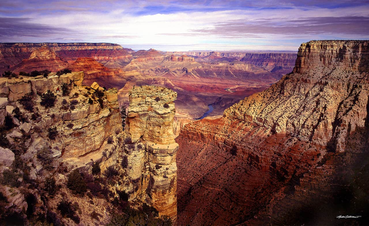 Grand Canyon Blue Water by martinsullivandesign.com