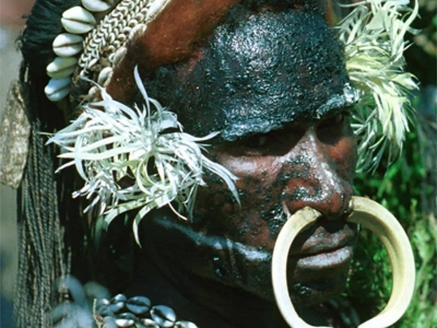 Papua New Guinea Warrior-Goroka Sing Sing-by Martin Sullivan