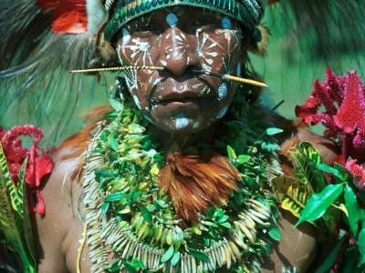 Papua New Guinea Female-Goroka Highlands Sing-Sing by Martin Sullivan